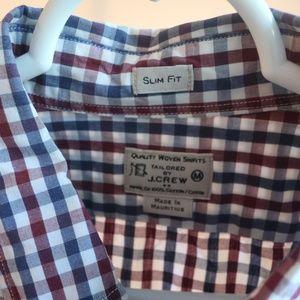 J Crew Slim Fit Gingham Shirt